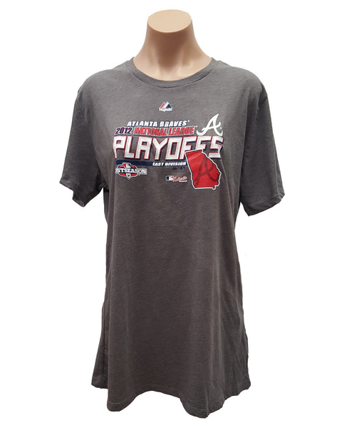 Majestic Atlanta Braves 2012 NL National League Playoffs Women's Clubhouse T-Shirt