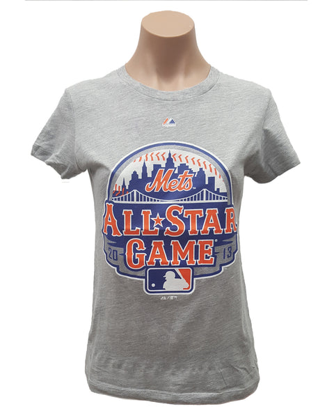 MAJESTIC NY METS WOMEN'S ALL-STAR GAME 2013 LOGO T-SHIRT