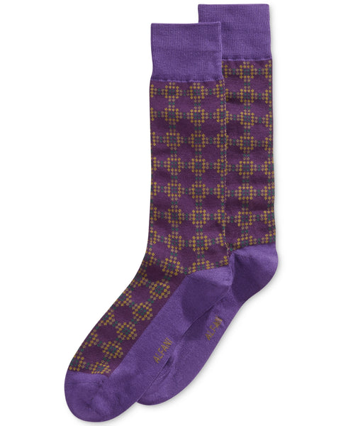 Alfani Men's Dot Grid Dress Socks