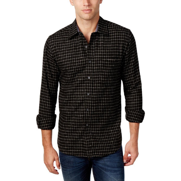 Club Room Wool Blend Button Down Shirt, Vibrant Navy
