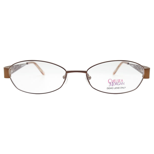 Chelsea Morgan Women's CM 803 Eyeglasses Prescription Frames, 52-17-135