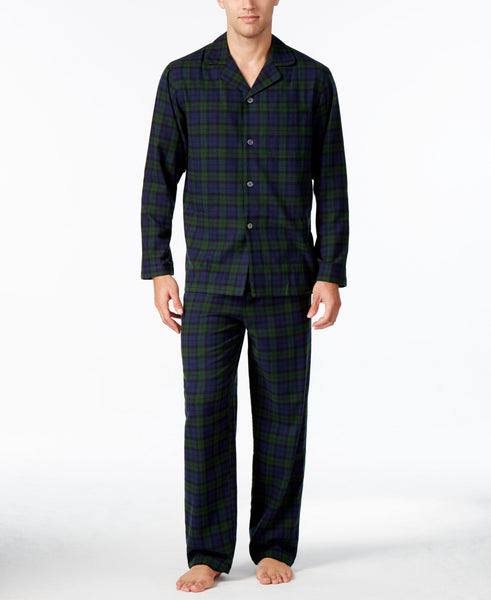 Club Room Men's Plaid Flannel Pajama Set