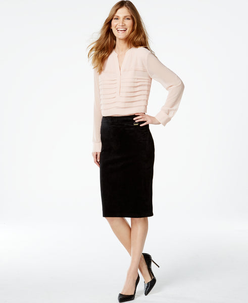 Calvin Klein Women's Faux-Suede Pencil Skirt