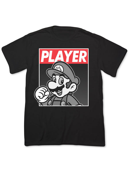 Fifth Sun Men's Super Mario Player Hero T-Shirt
