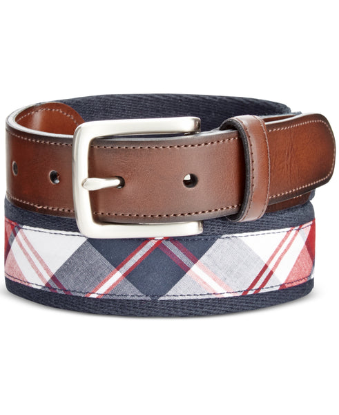 Club Room Men's Madras Web Belt