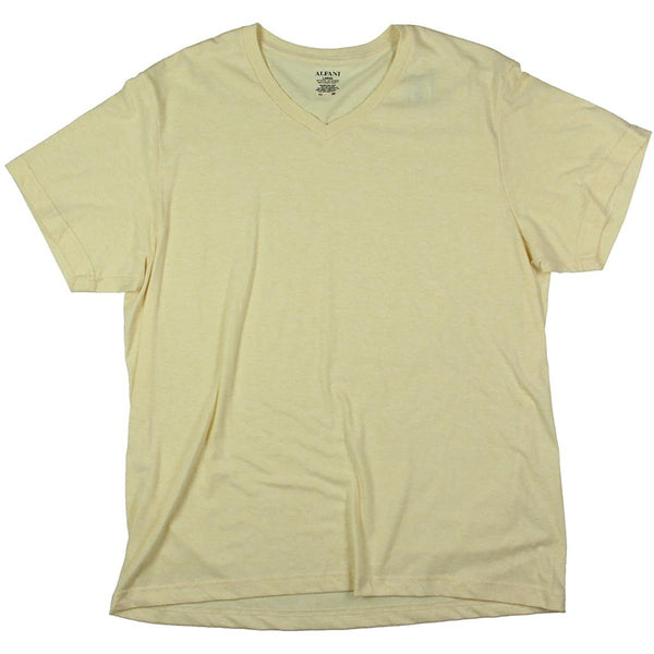 Alfani Men's V-Neck Short Sleeves Undershirt, Yellow XXL