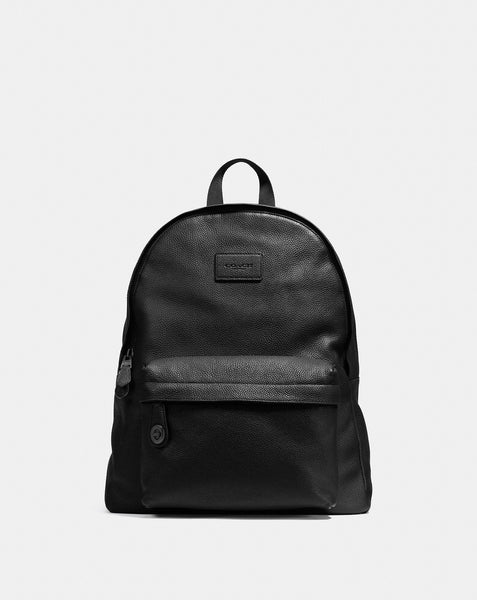 Coach Campus Backpack In Pebble Leather, Black, One Size