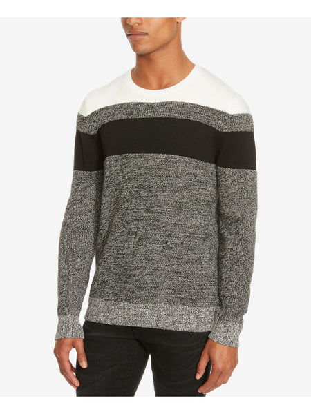 Kenneth Cole REACTION Men's Marled Crew-Neck Sweater, Charcoal Htr, M