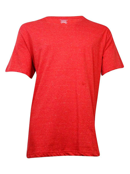 Alfani Men's Space-Dyed V-Neck T-Shirt (Red/White, XXL)