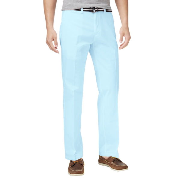 Haggar Men's Belted Poplin Flex-Waist Straight-Fit Pants
