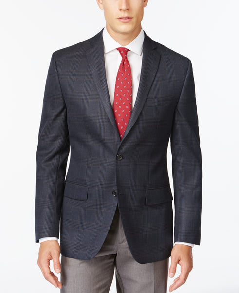 MICHAEL Michael Kors Men's Plaid Classic-Fit Sport Coat