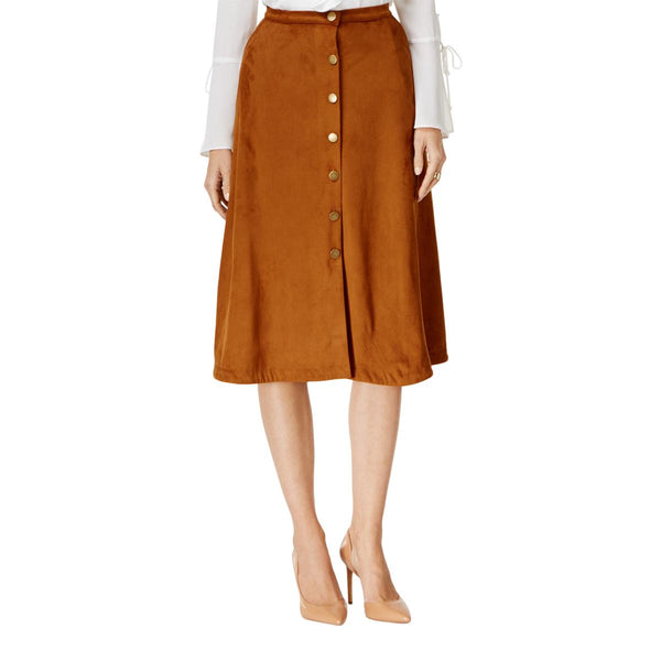 NY Collection Women's Faux-Suede A-Line Skirt