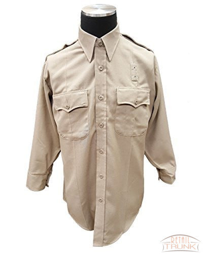 Flying Cross 19W6604 Men's Long Sleeve Uniform Shirt, Khaki
