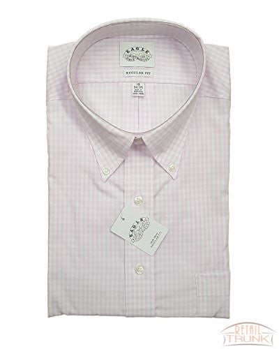 Eagle Men's Non-Iron 100% Cotton Twill Pink Check