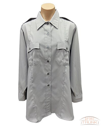 Flying Cross 126R5441 Women's Long Sleeve Uniform Shirt, Grey, 44-REG