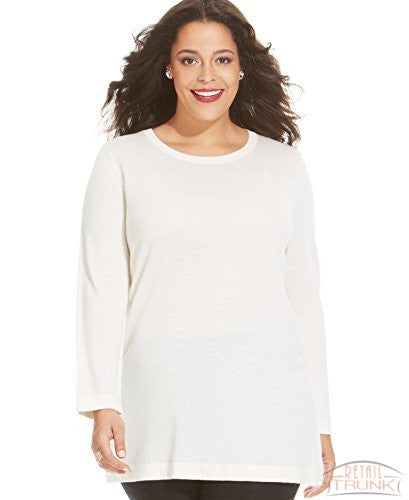 Jones NY Collection Tunic Sweater, Ivory, 0X