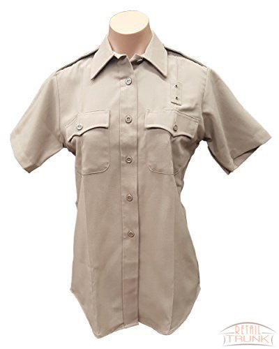 Flying Cross 153R6604 Women's Short Sleeve Uniform Shirt, Khaki
