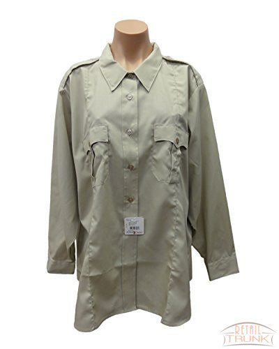 Flying Cross 126R5414 Ladies Long Sleeve Uniform Shirt, Sand, 54 Long