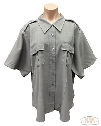 Flying Cross 152R6651 Women's Short Sleeve Uniform Shirt, Nickel Grey