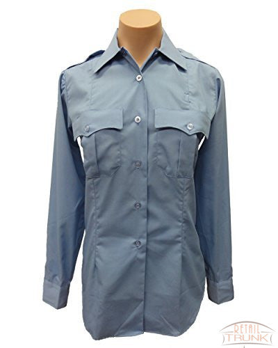Flying Cross 139R5425 Women's Long Sleeve Uniform Shirt, Blue, 28L