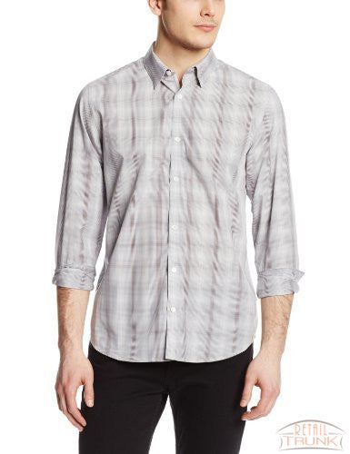 Calvin Klein Men's Tonal Grid-Check Button-Front Shirt