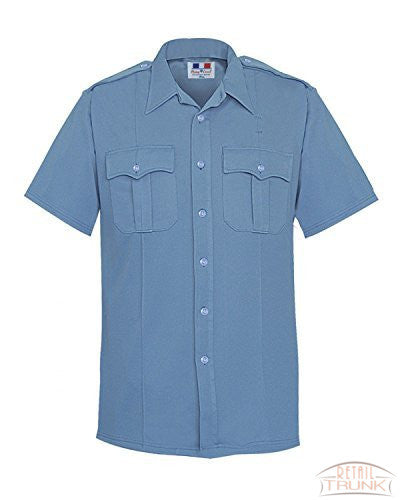 Flying Cross 152R6625 Women's Short Sleeve Uniform Shirt, Blue, 26