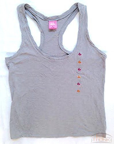 Jenni By Jennifer Moore Racerback Sleeveless Tank Top, Cloud Grey, S