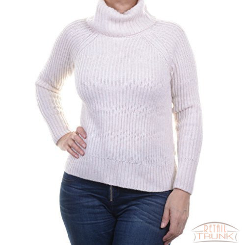 bar III Womens Ribbed Lace-Up Knit Sweater