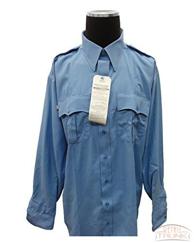 Flying Cross 06022LB Men's Long Sleeve Uniform Shirt, Sky blue,18x38