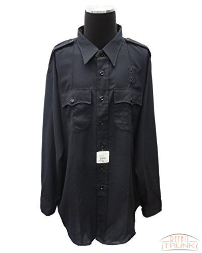 Flying Cross 48W6686T Men's Long Sleeve Uniform Shirt, Navy, 20.0/20.5-38/39