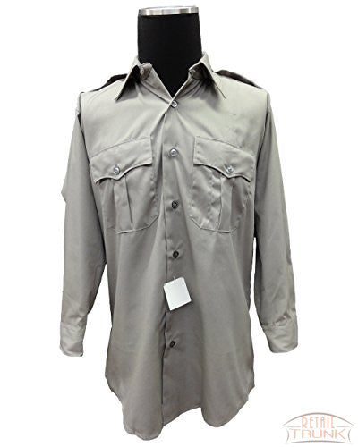 Flying Cross 15W5451 Men's Long Sleeve Uniform Shirt, Silver tan, 16-30