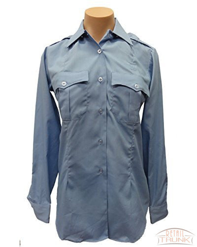Flying Cross 09R5425 Women's Long Sleeve Uniform Shirt, Blue