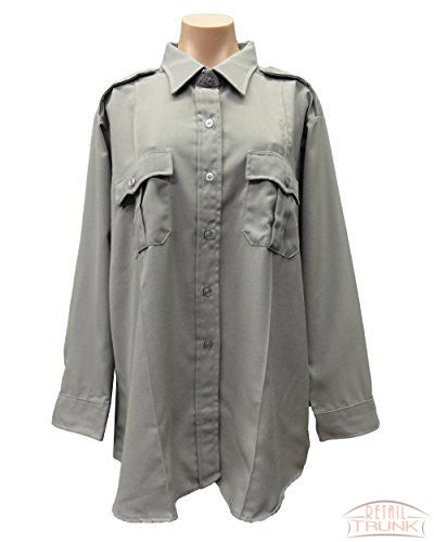 Flying Cross 102W6651 Women's Long Sleeve Uniform Shirt, Nickel Grey
