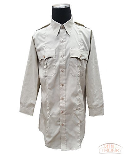 Flying Cross 35W5414T Men's Long Sleeve Uniform Shirt, Sand, 17.5-33