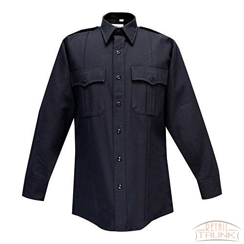 Flying Cross 47W6686 Men's Deluxe Tropical Long Sleeve Uniform Shirt, Navy
