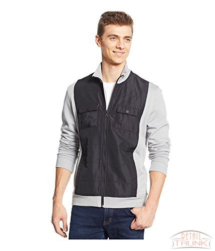 Alfani Mens Reyes Mixed-Media Shirt Jacket