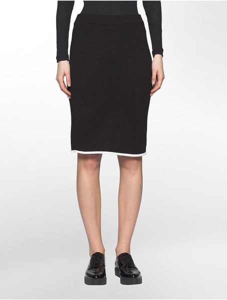 Calvin Klein Women's Contrast Trim Sweater Skirt