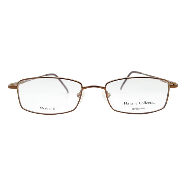 Havana Collection Men's Royale Eyeglasses Prescription Frames, 51-18-140 Brown