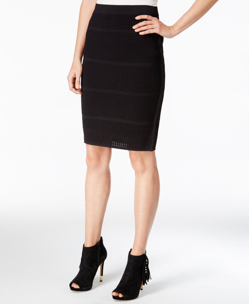 Bar III Women's Perforated Pencil Skirt