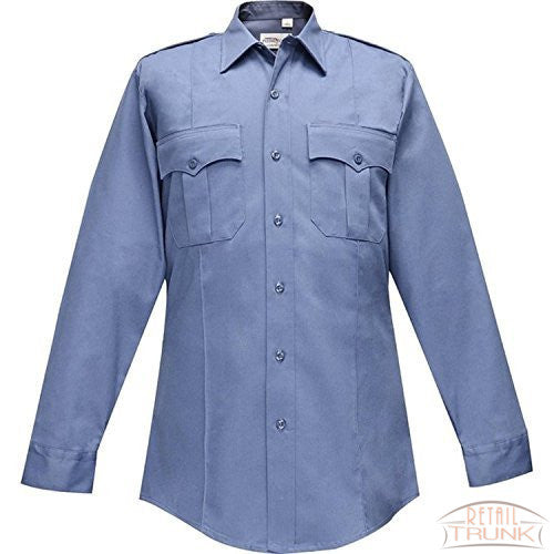 Flying Cross 126R5435 Women's Long Sleeve Duro Poplin Uniform Shirt Blue (38 Short)