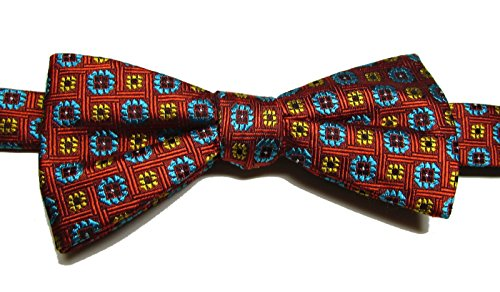 Countess Mara Men's Silk Blend Neat Pre-Tied Bow Tie