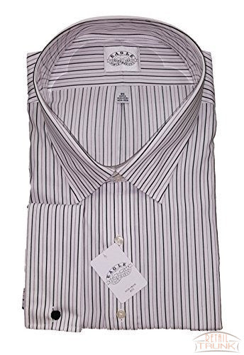 Eagle Shirtmakers Big&Tall Non-Iron Dress Shirt French Cuff, Striped, Multi