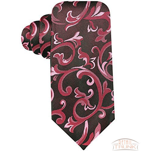 Alfani Men's Charcoal & Pink Checked Tie