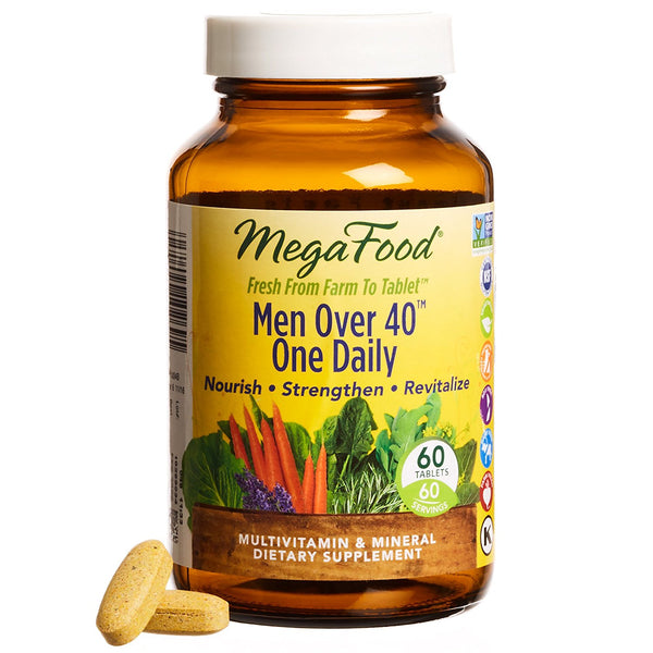 Mega Food Men Over 40 One Daily Multivitamins