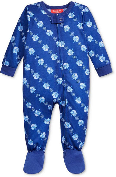 Family Pajamas Baby Boys' or Baby Girls' Dreidel Footed Pajamas
