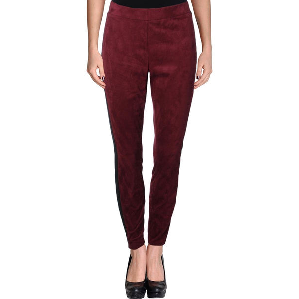 NY Collection Women's Ponte-Inset Faux-Suede Leggings