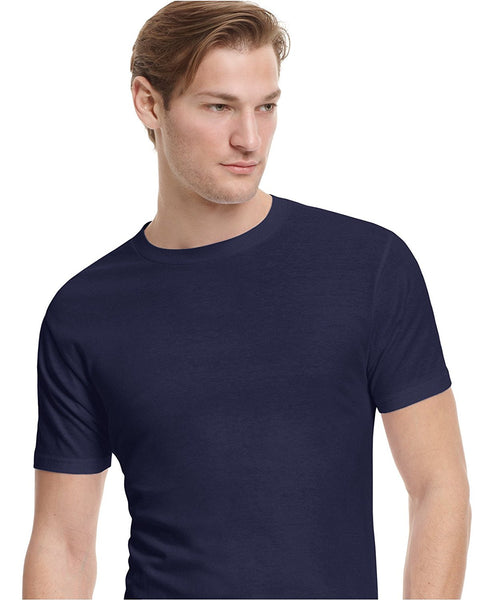 Alfani Men's Crewneck T-Shirt, Navy Large