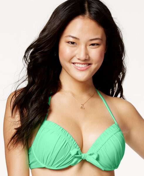 California Waves Women's Tie-Front Push-Up Bikini Top