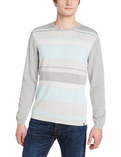Calvin Klein Men's Textured Stripe Crew Neck Sweater