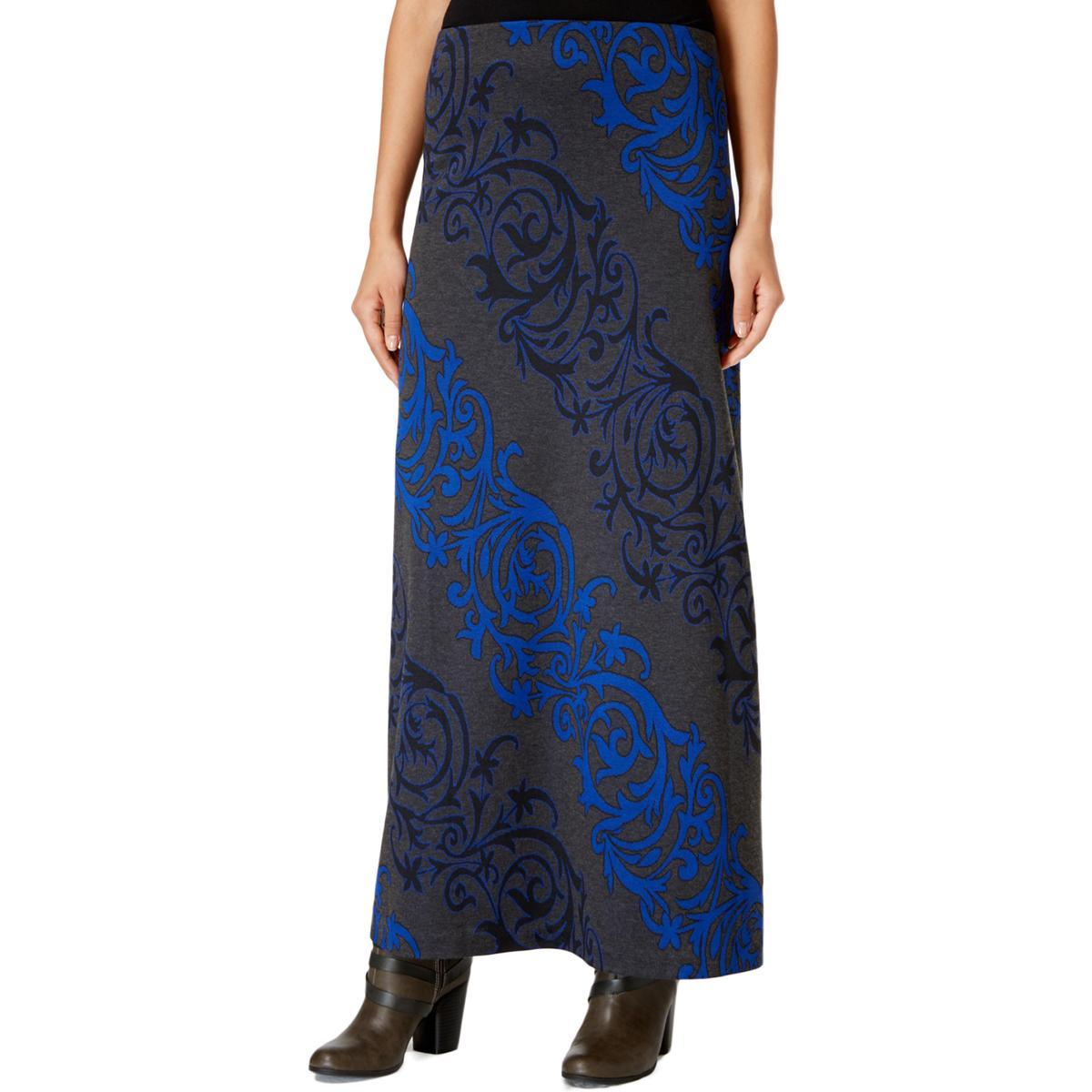 Eci New York Women S Scroll Print Maxi Skirt Retail Trunk